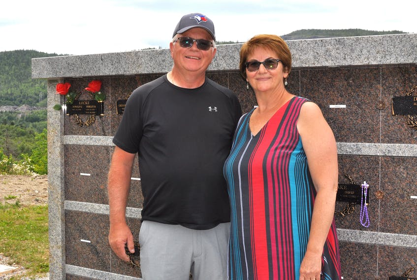 Dave and Sharon Higdon of Corner Brook have purchased a niche in one of the columbariums at Mount Patricia Cemetery where an urn containing their remains will be inurned.