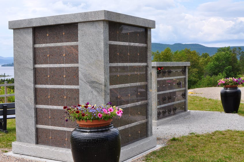 Mount Patricia Cemetery in Corner Brook recently added a second columbarium for the inurnment of urns. - Diane Crocker