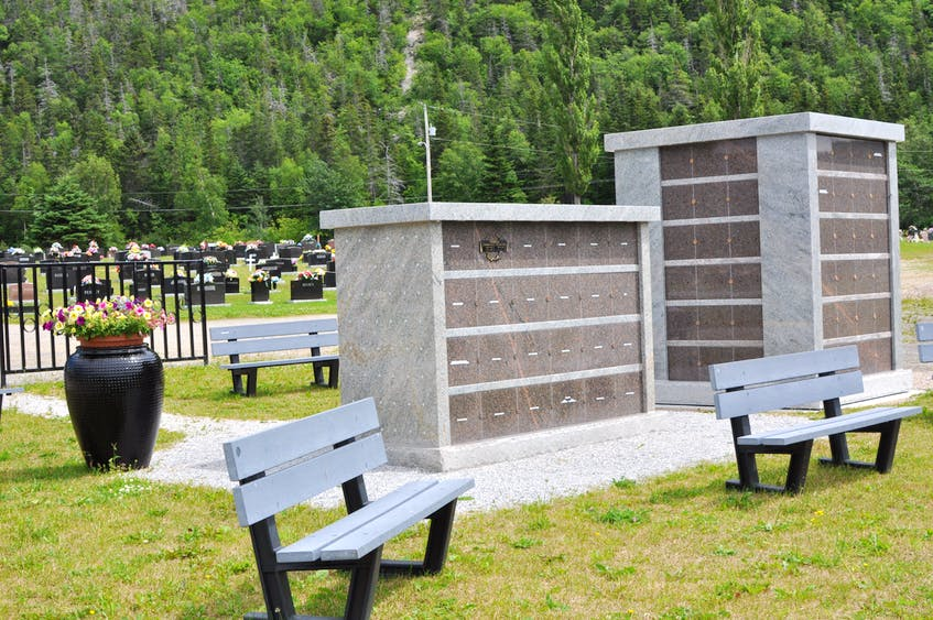 The columbarium park at Mount Patricia Cemetery in Corner Brook provides an alternative to traditional burial for people who are cremated. - Diane Crocker