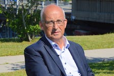 Provincial NDP Leader Gary Burrill unveiled several election promises as part of a Cape Breton campaign stop in Glace Bay on Monday. IAN NATHANSON • CAPE BRETON POST
