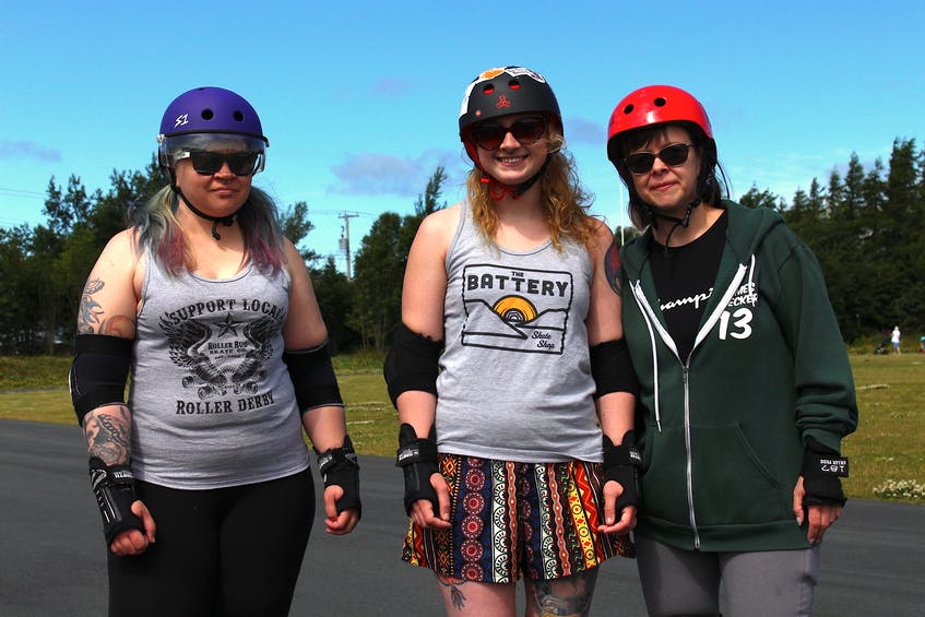 Dani Peddigrew made it much easier to get outfitted for roller derby for these maniacal madams when she opened The Battery Skate Shop. From left to right: Cristal Oliver (Scary Only), Dani Peddigrew (Cruella D. Kill) and Tina Holmes (Holmes Wrecker).