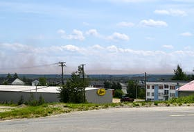 A dust cloud from nearby mining operations has covered the towns of Wabush and Labrador City a few times in recent weeks. - Courtesy of Mike Power