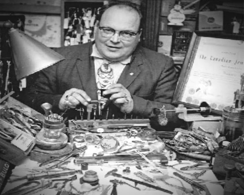 Wallace Moase operated his jewellery sales business in Summerside from 1941 until he retired in 1991, though he had to close for a few years to serve in the Royal Canadian Air Force during the Second World War.