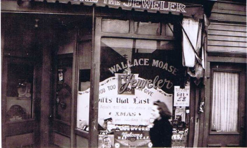 This is a family photo of Wallace Moase's jewellers' shop on Water Street in Summerside. - Contributed