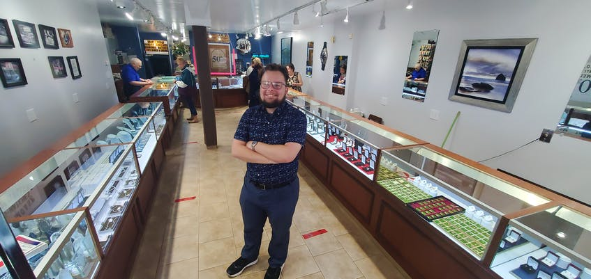 Greg Moase stands in the store his family has built on Water Street in Summerside over the past 80 years. - Colin Maclean • Journal Pioneer