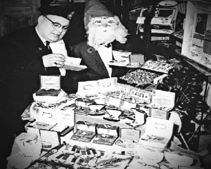 Wallace Moase, left, is joined by his son, Grant, dressed as Santa Clause. Wallace started Moase Quality Jewellers in 1941 and didn't retire until 1991. Grant has continued to operate the business until it closed on July 23, 2021.