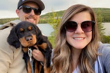 Electrical engineering technician Lucas Wheaton and his fiancée, Kristen Greenham, say Labrador West is the ideal place for those who love the outdoors – and their dogs.