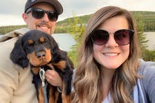 Electrical engineering technician Lucas Wheaton and his fiancée, Kristen Greenham, say Labrador West is the ideal place for those who love the outdoors — and their dogs.