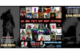 The inaugural Iron Mic Festival and Conference is underway giving, Island-based hip hop and rap artists a chance to be crowned Iron Mic Champion.