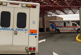 Ambulances park outside the emergency entrance at the Health Sciences Centre in St. John's in 2019. TELEGRAM FILE PHOTO