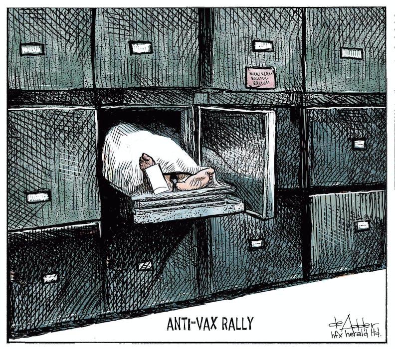 Michael de Adder's cartoon for July 28, 2021. - Michael de Adder