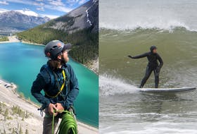 Derek Eisses, of Maitland, has climbed across the world, including in Canmore, Atla. Andrée-Anne LeClair currently lives in Lower Truro and loves escaping to the coast for surfing.