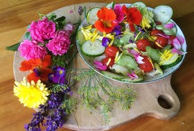 Some common garden favourites: rose, lavender, calendula and nasturtium, Johnny jump-ups and dill. CONTRIBUTED