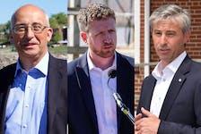 Nova Scotia NDP Leader Gary Burrill, Liberal Leader Iain Rankin and Progressive Conservative Leader Tim Houston.