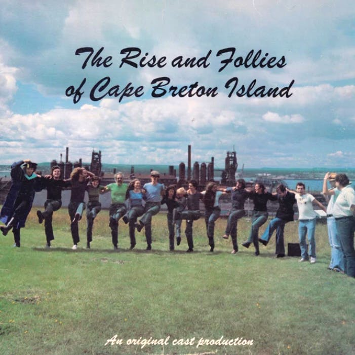 """This is the album cover of the first """"The Rise and Follies of Cape Breton Island"""" recording. Kenzie MacNeil is shown second from the left. CONTRIBUTED"""