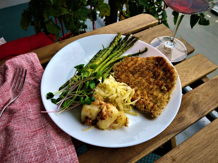 Saltwire foodie Mark DeWolf recommends cooking the local pork schnitzel on the barbecue.