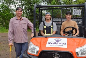 A large community of cyclists work on The Railyard, a mountain bike park, in Truro, N.S. This summer, seasonal workers Paul Firminger, Aaron Duncan and Jack Morrison have been working on the trails, alongside volunteers, every day.