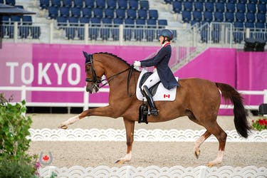 Pictou County native Brittany Fraser-Beaulieu and All In posted Canada's highest-ever Olympic Freestyle score, 76.404 per cent, in the Dressage Individual Grand Prix Freestyle, held on July 28, 2021, at the Tokyo 2020 Olympic Games. Photo by MacMillan Photography & Media Services
