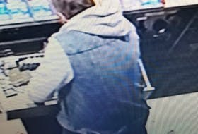 Police said a suspect in the most recent break and enter incident at a Lockhartville business wore a black mask, a grey hoodie, a denim jacket with cut-off sleeves, denim pants and dark shoes.
