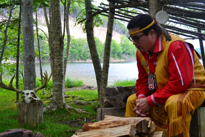 Matthew Patles, an animator and tour guide at Eskasoni Cultures Journeys on Goat Island, enjoys telling visitors about his Mi'kmaq culture and traditions. - Ardelle Reynolds