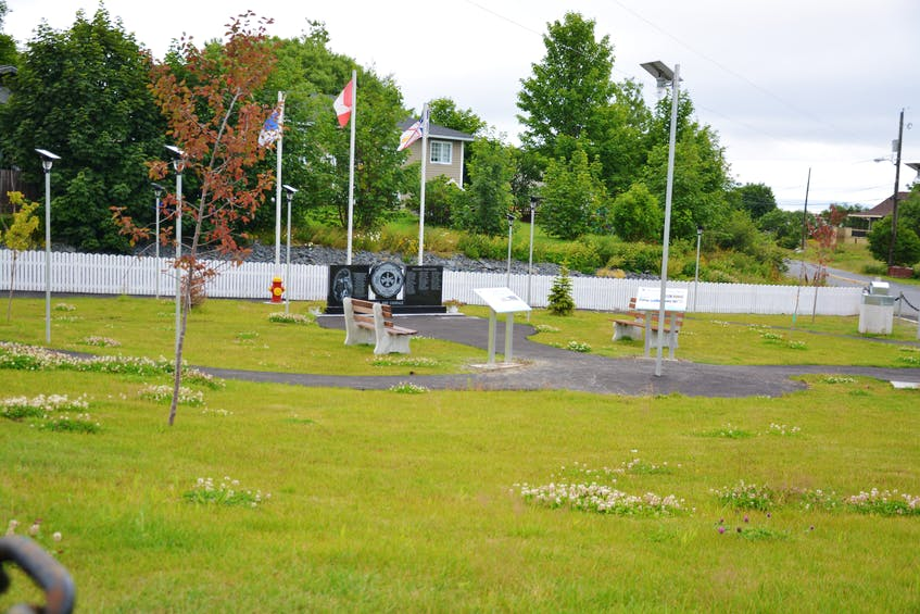 The Robert John Clarke Community Garden in Upper Island Cove will be a recreational centerpiece for the town. At the heart of the garden is the Firefighter's Memorial. - Nicholas Mercer