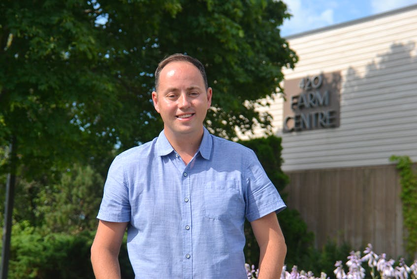 Robert Godfrey, incoming CEO of the Greater Charlottetown Chamber of Commerce, is shown outside the Farm Centre in Charlottetown, which houses the office of the P.E.I. Federation of Agriculture.