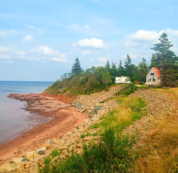 """""""I want my grandkids to be able to come out here when they're older. They may not want to, but I want it to be available to them,"""" Tim Jess says of his cottage in Linden, N.S., overlooking the Northumberland Strait."""