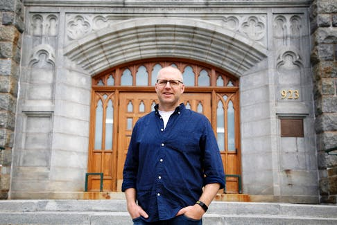 FOR NOUSHIN STORY: Saint Mary's University biology prof, Dr. Timothy Frasier (sp) is working on a four-year, $6 million North Atlantic right whale study that is investigating how genetic factors are potentially impacting the critically endangered North Atlantic right whale's recovery . He is seen at the university in Halifax Wednesday July 28, 2021.  TIM KROCHAK PHOTO