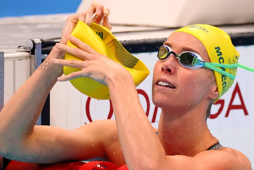 Australia's Emma McKeon broke the Olympic record in the women's 100m freestyle preliminary heats on Wednesday with a time of 52.13 seconds. - Contributed