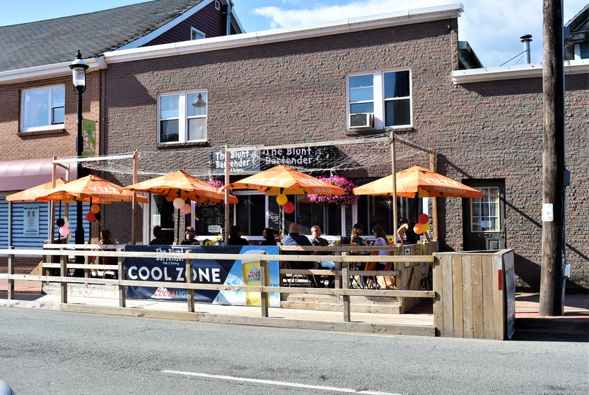 The Blunt Bartender's outdoor patio was filled to capacity during a recent Saturday afternoon.