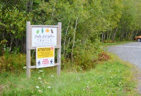 Sign marking the Terrace Street entrance to the Baille Ard Trail system in the south end of Sydney. DAVID JALA/CAPE BRETON POST