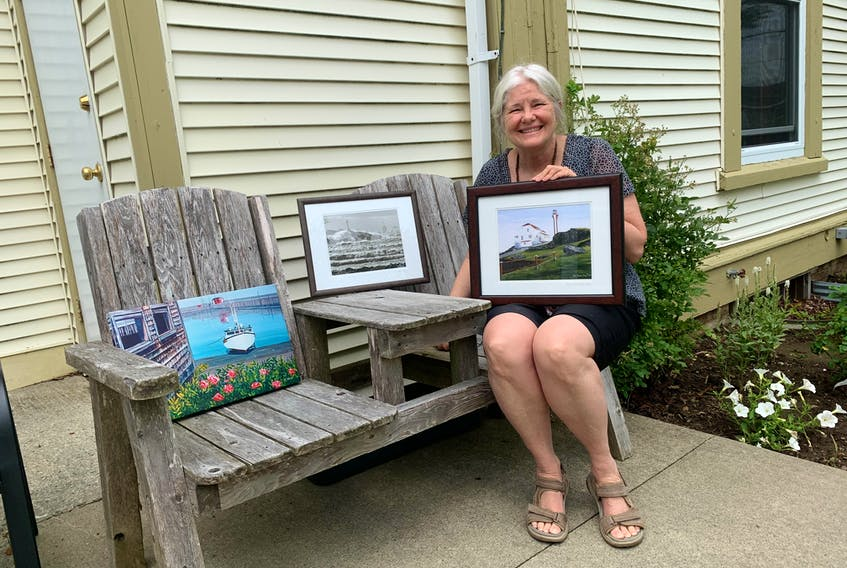 Artist Ann Clow, formerly of Yarmouth, has donated some of her paintings to local facilities to give back to the community.