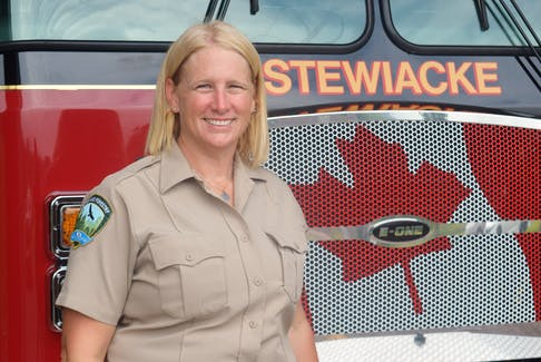 Kara McCurdy, Nova Scotia wildfire prevention officer, recently returned from investigating fires in British Columbia. She is based in the Stewiacke, N.S. area.