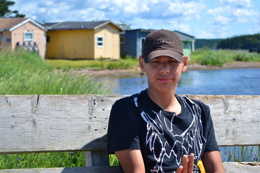 Kurt Gould from Eskasoni First Nation is attending the St. Anne's Mission for the first time. He plans to return again next year. ARDELLE REYNOLDS/CAPE BRETON POST