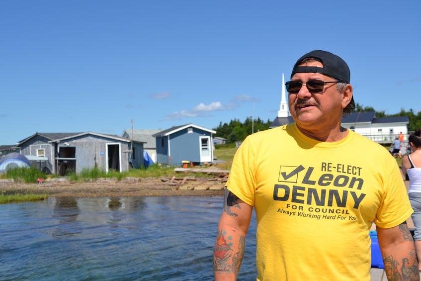 Tom Sylliboy from Eskasoni First Nation has been organizing the St. Anne's Mission since 1991. He's happy to be back on Mniku after the pandemic kept most people away last year. ARDELLE REYNOLDS/CAPE BRETON POST