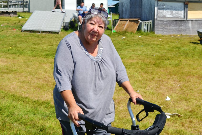 Elder Mary Bernard from Eskasoni First Nation has been coming to the St. Anne's Mission in Potlotek First Nation for at least 40 years. ARDELLE REYNOLDS/CAPE BRETON POST