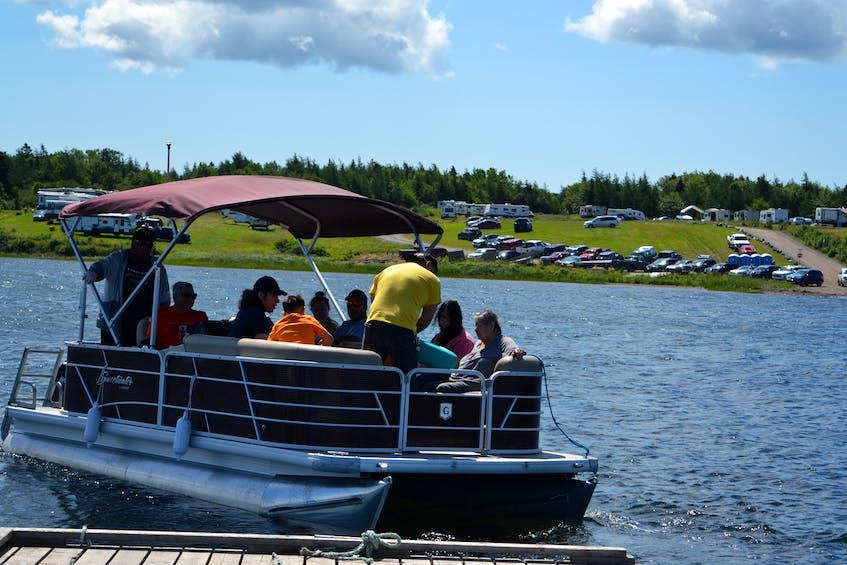 Barry Bernard from Eskasoni First Nation will bring visitors back and forth between Mniku, the tiny village where the chapel is located, and the shore of Potlotek First Nation all weekend as people from across Mi'kma'ki gather for the annual St. Anne's Mission. ARDELLE REYNOLDS/CAPE BRETON POST