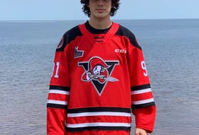 Antigonish's Tyler Peddle wears the colours of his new team, the Drummondville Voltigeurs. - Drummondville Voltigeurs