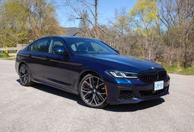 """There are no fewer than six different powertrains you can choose on a new BMW 5 Series. The 5 is BMW's """"traditional"""" sedan offering smaller than a 7 but larger than a 3. Photo: Clayton Seams"""