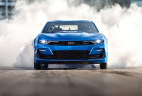 An electric Camaro isn't outside the realm of possibility, as an EV racing Camaro, the eCOPO Camaro Concept car, was showcased during SEMA in 2018. Photo: General Motors