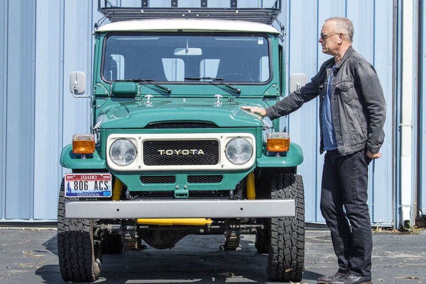 Renown actor Tom Hanks is putting his 1992 Airstream Model 34 Limited trailer and 1980 Toyota FJ40 Land Cruiser up for auction. Photos: Bonhams