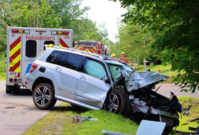 A driver was treated for injuries after this vehicle hit a tree on Lakewood Road, in Kings County, July 29.
