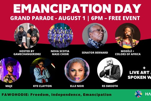 Emancipation Day celebrations will take place Aug. 1 at Grand Parade in Halifax while other celebrations are taking place all over the country.