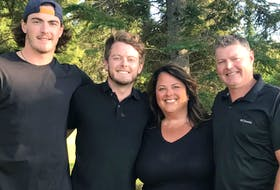 The MacEwen family has created the My Biggest Fan Foundation in honour of Craig, right, who died in May 2020. From left are Zack, Kurtis and Juliana.