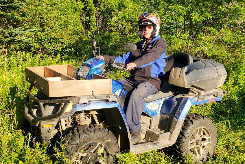 Darryl Crosby on his ATV, a Polaris 570. The Yarmouth, N.S. man, who has enjoyed going on ATV trips across Nova Scotia and Newfoundland, says his wife was the person who first got him interested in ATVing.