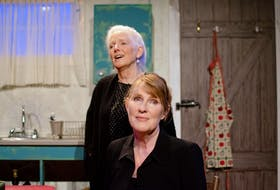 """Kathleen Sheehy and Christy MacRae-Ziss in """"Outside Mullingar,"""" Theatre Baddeck's latest production running until Aug. 7. CONTRIBUTED"""