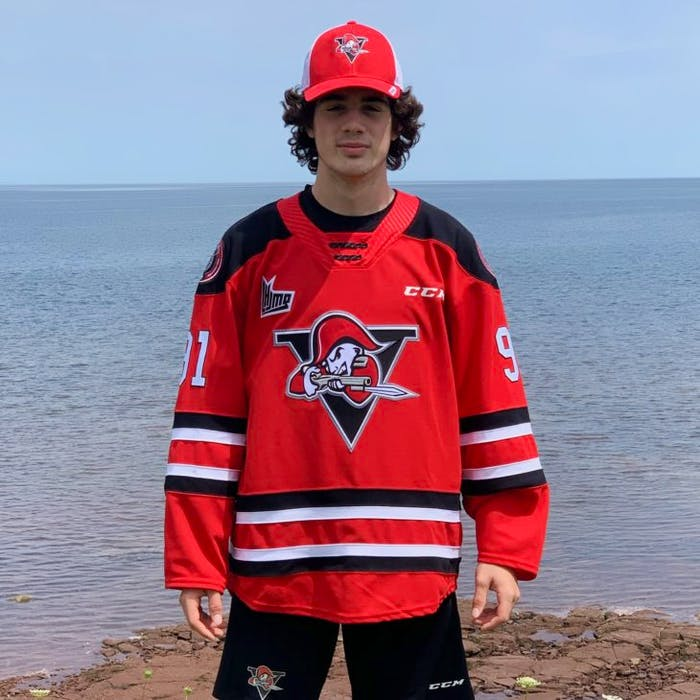 Antigonish's Tyler Peddle wears the colours of his new team, the Drummondville Voltigeurs. He committed to the team on Thursday. CONTRIBUTED • DRUMMONDVILLE VOLTIGEURS