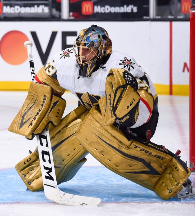 Marc-Andre Fleury was traded to the Chicago Blackhawks earlier this week. CONTRIBUTED • VEGAS GOLDEN KNIGHTS
