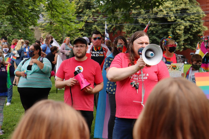 Scott Alan, left, was the operations manager for the 2021 Pride P.E.I. Festival. Andrea MacPherson, right, is Pride P.E.I.'s secretary and a board director. - Logan MacLean • The Guardian
