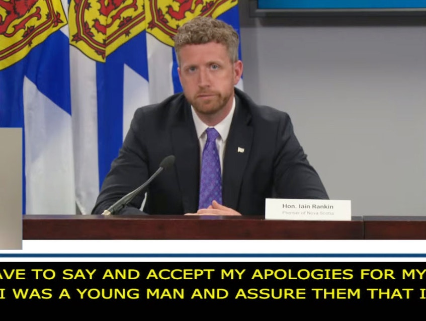 Nova Scotia Premier Iain Rankin talks about his drunk-driving conviction during a COVID-19 news briefing Monday, July 5, 2021. - YouTube  Screengrab